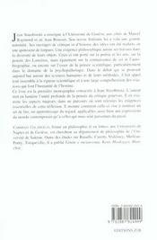Jean Starobinski - 4ème de couverture - Format classique