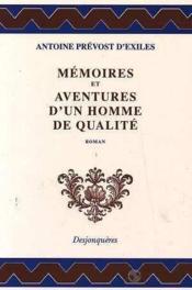 Memoires Et Aventures D'Un Homme De Qualite - Couverture - Format classique