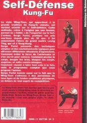 Kung fu wing tsun - 4ème de couverture - Format classique