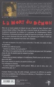 La Mort Du Demon - 4ème de couverture - Format classique
