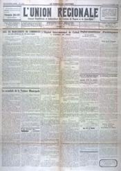 Union Regionale (L') N°1004 du 25/11/1937 - Couverture - Format classique