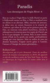 Les chroniques de virgin river t.6 ; paradis - 4ème de couverture - Format classique