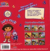 Apprends à dire merci avec Dora ! - 4ème de couverture - Format classique