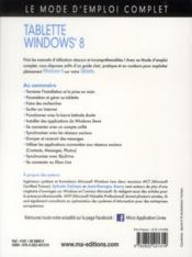 Windows 8 tablettes - 4ème de couverture - Format classique