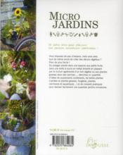 Micro jardins - 4ème de couverture - Format classique