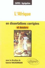 L'afrique en dissertations corrigées et dossiers - Intérieur - Format classique