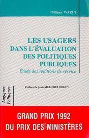 Les usagers dans l'évaluation des politiques publiques - Intérieur - Format classique