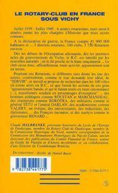 Le Rotary-Club En France Sous Vichy - 4ème de couverture - Format classique