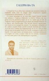 L'Aleph-Ba-Ta - 4ème de couverture - Format classique