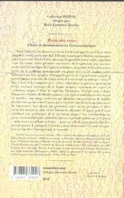 Récits des voies ; chant et cheminement en grèce archaïque - 4ème de couverture - Format classique