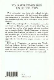 Vous Reprendrez Bien Un Peu De Latin - 4ème de couverture - Format classique