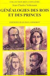 Genealogies Des Rois Et Princes D'Europe - Intérieur - Format classique