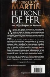 Le trône de fer T.14 ; les dragons de Meereen - 4ème de couverture - Format classique
