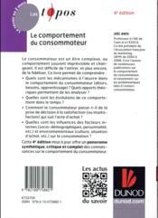 Le comportement du consommateur (4e édition) - 4ème de couverture - Format classique