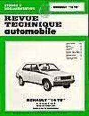 Rta 394.2 Renault 14 Ts (1976/1983) - Couverture - Format classique