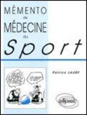 Memento De Medecine Du Sport - Intérieur - Format classique