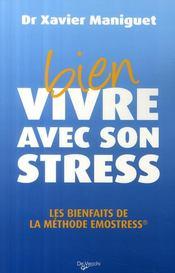 Bien vivre avec son stress ; les bienfaits de la méthode Emostress - Couverture - Format classique