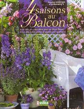 Quatre Saisons Au Balcon - Intérieur - Format classique