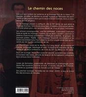 Le chemin des noces - 4ème de couverture - Format classique