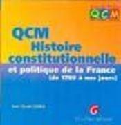 Qcm histoire constitutionnelle et politique - Intérieur - Format classique