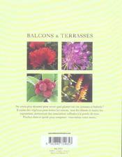 Balcons et terrasses - 4ème de couverture - Format classique