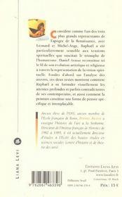 Les visions de Raphaël - 4ème de couverture - Format classique