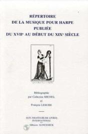 Repertoire De La Musique Pour Harpe - Couverture - Format classique