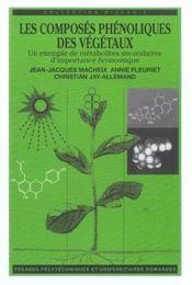 Les Composes Phenoliques Des Vegetaux Un Exemple De Metabolites Secondaires - Intérieur - Format classique