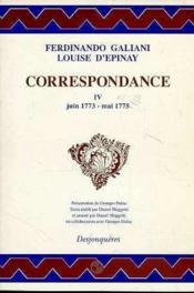 Correspondance Tome Iv (Juin 1773-Mai 1775) - Couverture - Format classique