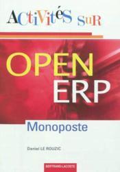 Activites Sur Open Erp Monoposte - Couverture - Format classique