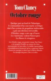 Octobre rouge - 4ème de couverture - Format classique