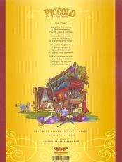 Contes & Recits De Maitre Spazi T.1 ; Piccolo, Le Fou Triste - 4ème de couverture - Format classique