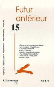 Futur Anterieur 15 - Couverture - Format classique