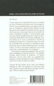 Monsieur vertigo - 4ème de couverture - Format classique
