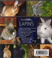 Lexiguide des lapins - 4ème de couverture - Format classique