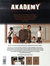 Akademy t.1 ; la cour des grands - 4ème de couverture - Format classique