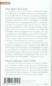 Saint ignace de loyola ; et la compagnie de jésus - 4ème de couverture - Format classique