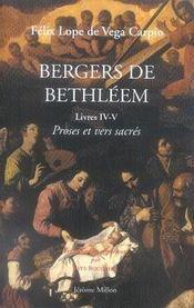 Bergers de bethléem livres 4 et 5 ; proses et vers sacrés - Intérieur - Format classique