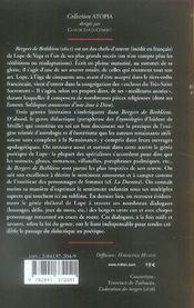 Bergers de bethléem livres 4 et 5 ; proses et vers sacrés - 4ème de couverture - Format classique