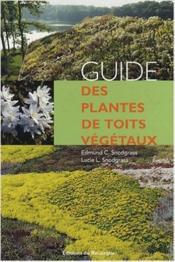 Guide des plantes de toits végétaux - Couverture - Format classique