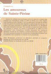 Les Amoureux De Sainte-Perine - 4ème de couverture - Format classique