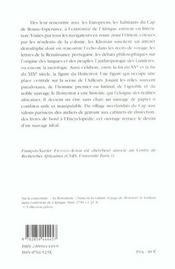 Invention Du Hottentot - 4ème de couverture - Format classique