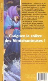 Serie De Ki Et Vandien 2 - Ventchanteuses (Les) - 4ème de couverture - Format classique