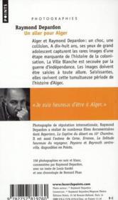 Un aller pour Alger - 4ème de couverture - Format classique