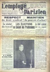 Employe Parisien (L') N°2 du 01/02/1938 - Couverture - Format classique