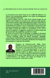 La résurrection d'une nation brisée par les conflits t.1 ; guide des affaires civiles de l'ONU - 4ème de couverture - Format classique