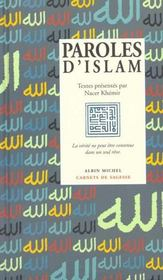 Vente  Paroles d'islam  - Khemir-N - Nacer Khemir