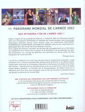Panorama Mondial 2002 Edition 2003 - 4ème de couverture - Format classique