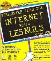 Toujours Plus Sur Internet Pour Les Nuls - Intérieur - Format classique