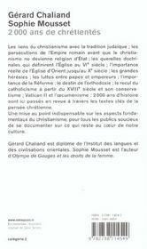 2 000 Ans De Chretiente - 4ème de couverture - Format classique